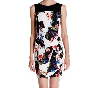 Guess white floral dress size 8